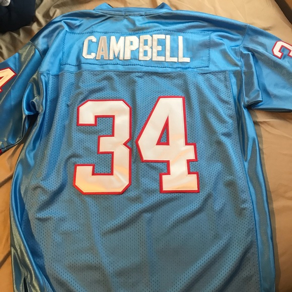 timeless design a2d60 a8a5a Earl Campbell Houston Oilers NFL Jersey